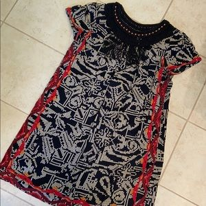 Women's embroidered and tasseled dress Anthro